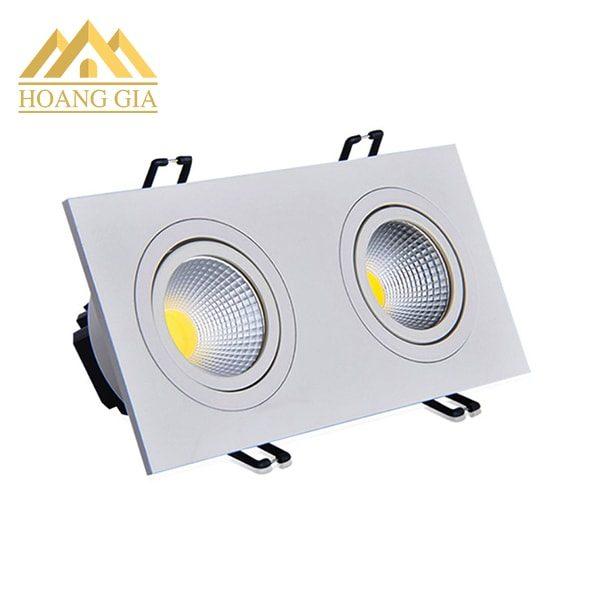 Đèn led spotlight âm trần đôi 14w