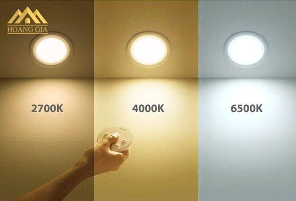 Phân loại đèn LED theo nhiệt độ màu của ánh sáng