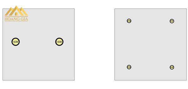 Công thức tính khoảng cách giữa 2 đèn downlight