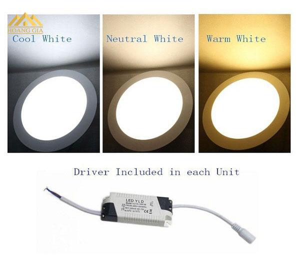 Cơ chế hoạt động và ứng dụng của đèn led âm trần 3 chế độ