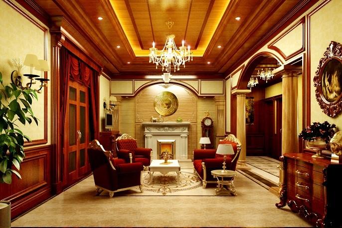 Đèn led âm trần cổ điển được lắp trong phòng khách