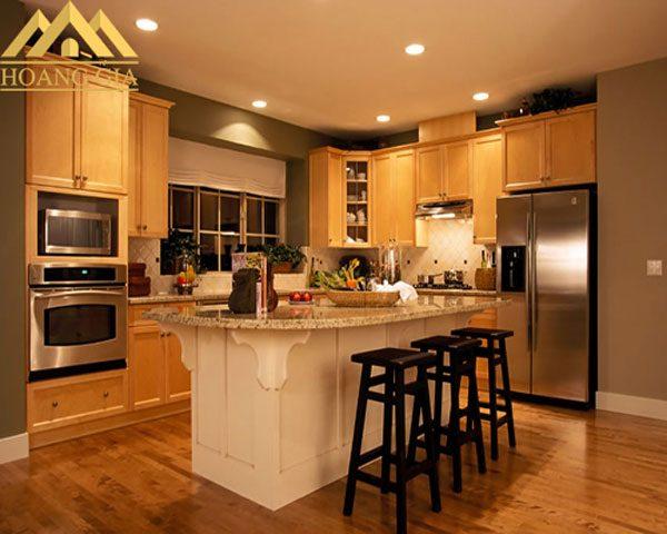 lựa chọn ánh sáng đèn led âm trần cho phòng bếp