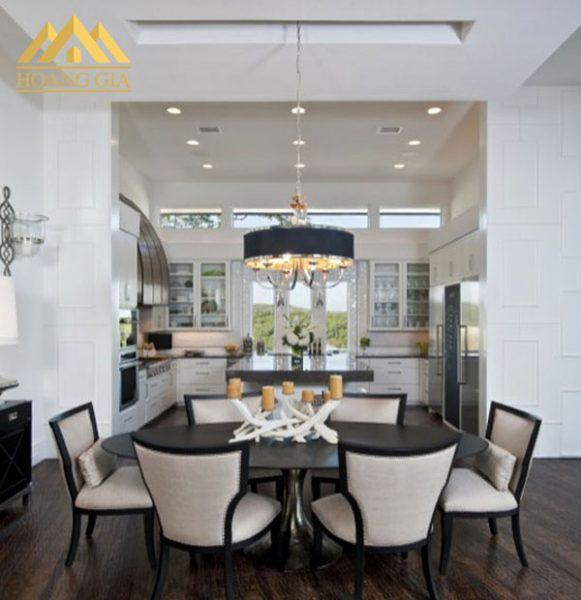 đèn led âm trần cho phòng bếp ăn với đèn led trang trí