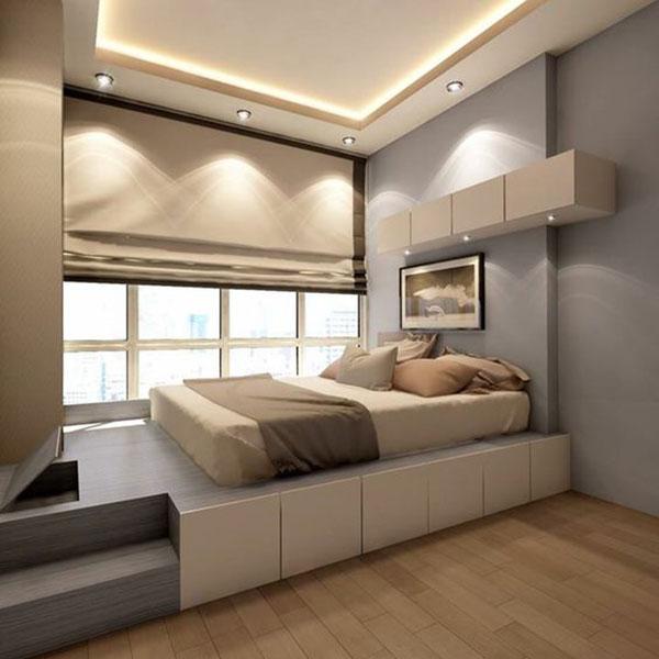 Có nên kết hợp trần thạch cao với đèn led âm trần cho phòng ngủ hay không?