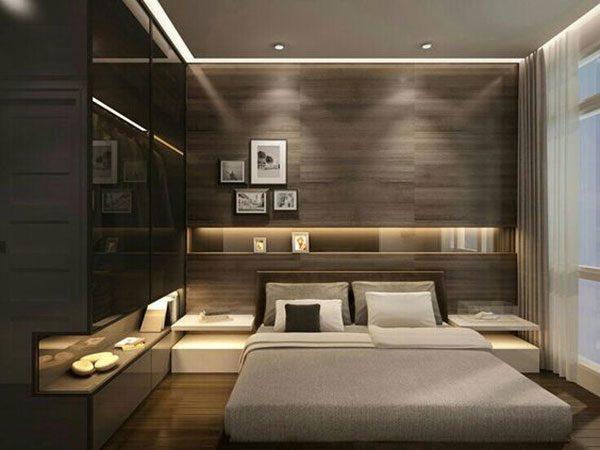 Có nên kết hợp trần bê tông với đèn led âm trần cho phòng ngủ hay không?