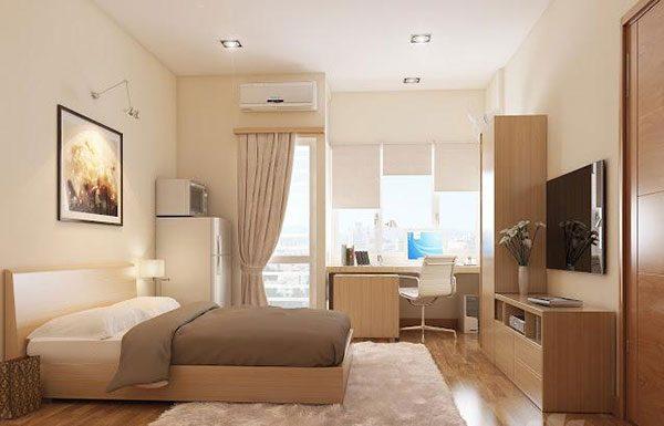 Tư vấn bố trí đèn led âm trần cho phòng ngủ đơn giản.