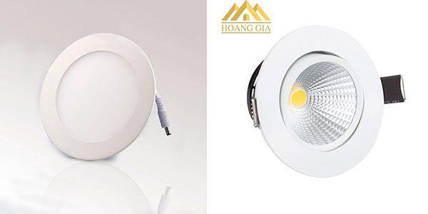Đèn led âm trần cho phòng bếp nênsử dụng đèn spotlight, hay đèn tán quang