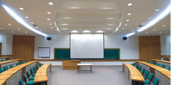 Đèn led âm trần mặt cong đế mỏng ứng dụng trong phòng họp