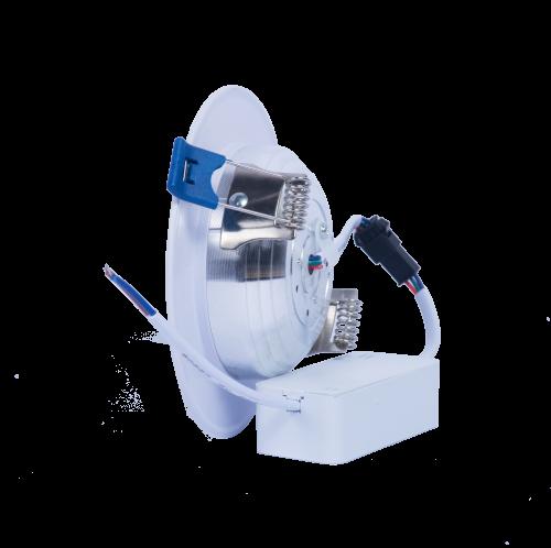 Thiết kế ưu việt của đèn led âm trần mặt cong đế mỏng