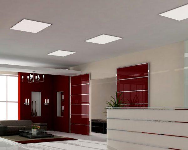 ứng dụng chiếu sáng với đèn led Panel 600x600 âm trần