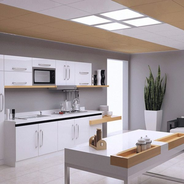 Phòng bếp lắp đặt đèn led Panel âm trần thả thạch cao