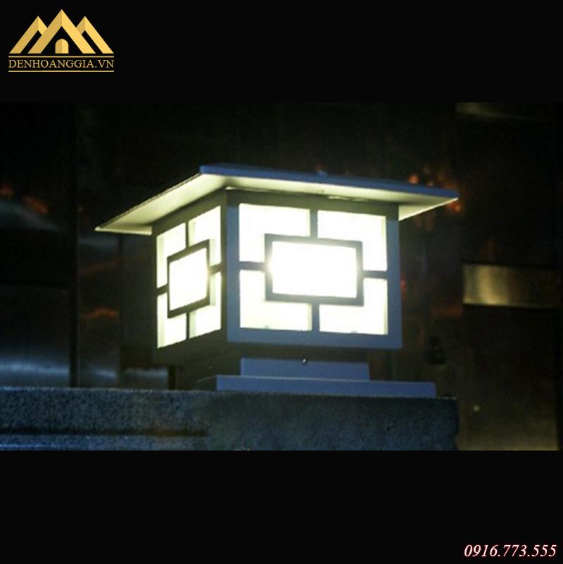 Đèn trụ cổng hiện đại có rất ít họa tiết hoa văn cầu kỳ
