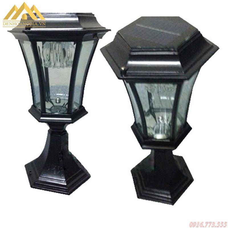 Đèn trụ cổng năng lượng mặt trời thiết kế dễ dàng lắp đặt