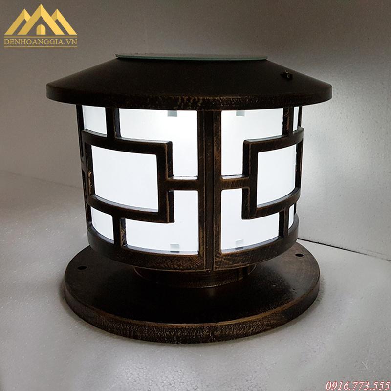 Đèn trụ cổng hiện đại hình trụ