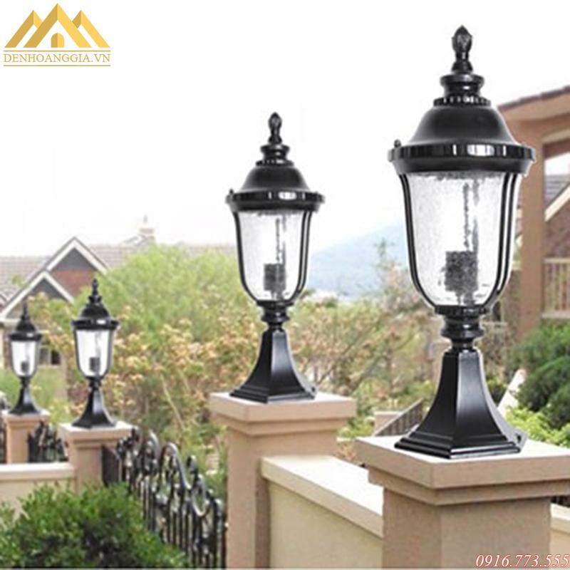 Mẫu đèn trụ cổng cổ điển cao cấp