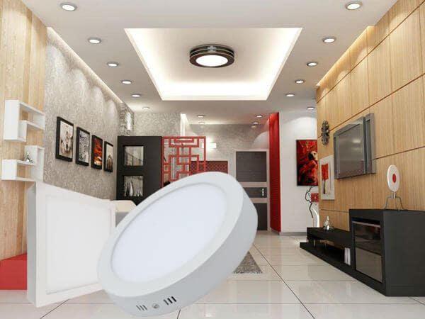 nên lắp đèn led ốp trần tròn hay vuông