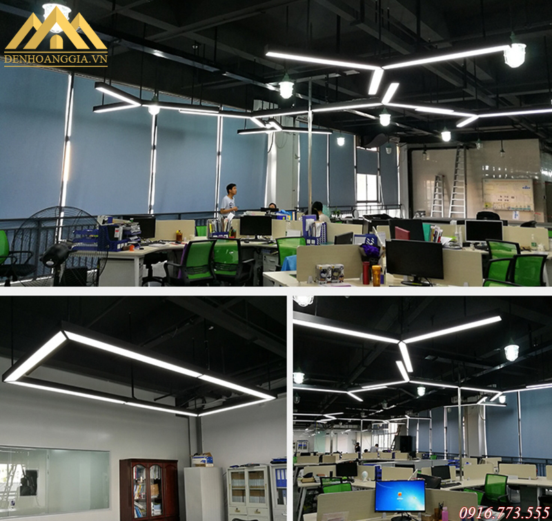 Ứng dụng đèn led thả văn phòng
