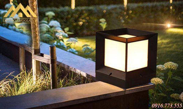 Ánh sáng của đèn led trụ cổng tường rào dịu nhẹ tạo hiệu ứng bắt mắt